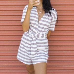Sabo Skirt striped knit romper